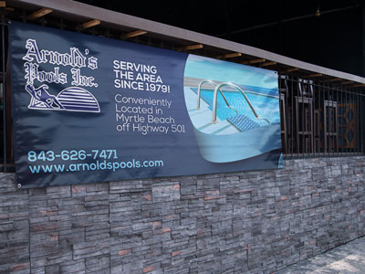 Creative Roots Marketing & Design - Arnold's Pools Banner Design