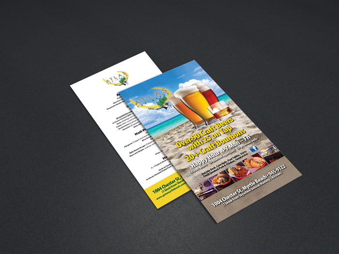 Creative Roots Marketing & Design - Atlas Tap House Menu Design