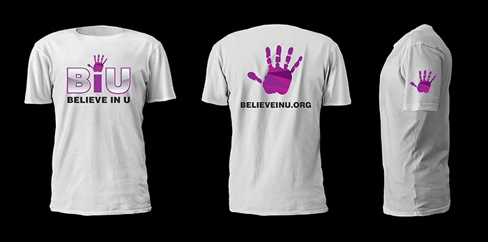 Creative Roots Marketing & Design - Believe In U Tshirt Design