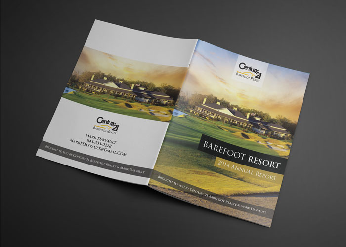 Creative Roots Marketing & Design - Century 21 Barefoot Resort Annual Report Design