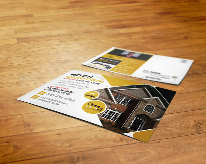 Creative Roots Marketing & Design - Century 21 Mitch Gainforth Postcard Design