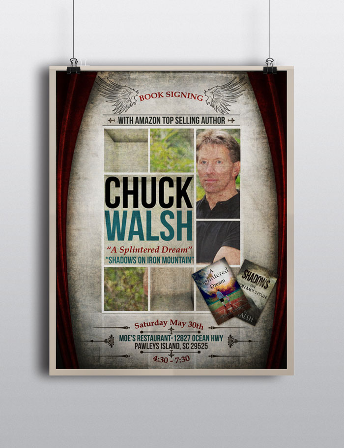 Creative Roots Marketing & Design - Chuck Walsh Book Signing Poster Design