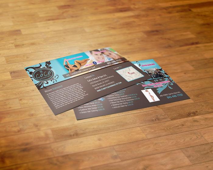 Creative Roots Marketing & Design - CoCo Salon Postcard Design