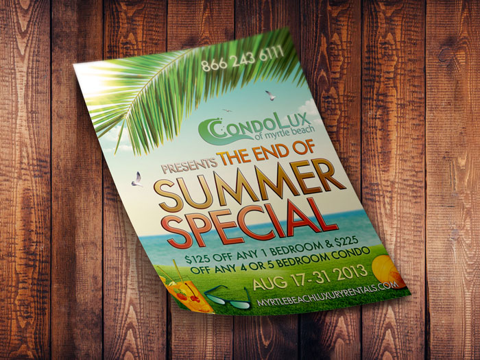 Creative Roots Marketing & Design - Condolux Summer Special Flyer