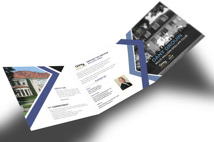 Creative Roots Marketing & Design - Dany Drouin Trifold Design