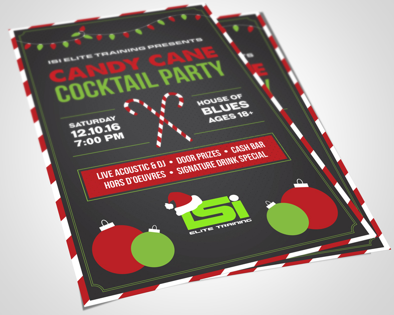 Creative Roots Marketing & Design - Christmas Party Flyer for ISI Elite Training