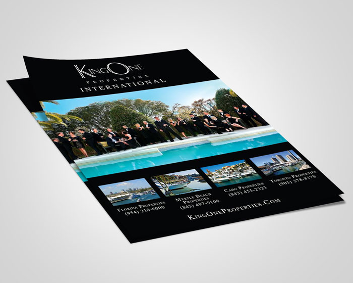 Creative Roots Marketing & Design - King One Properties Flyer Design