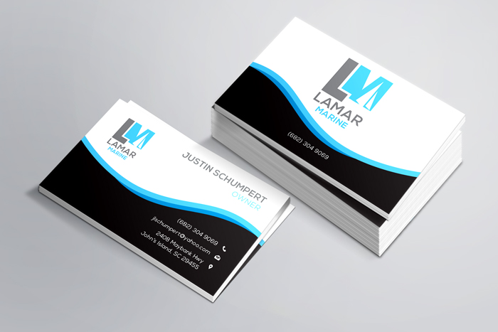 Creative Roots Marketing & Design - Business Card Design for Lamar Marine