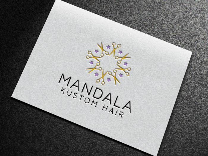 Creative Roots Marketing & Design - Logo Design for Mandala Kustom Hair