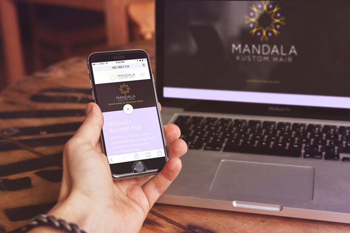 Creative Roots Marketing & Design - Website Design for Mandala Kustom Hair