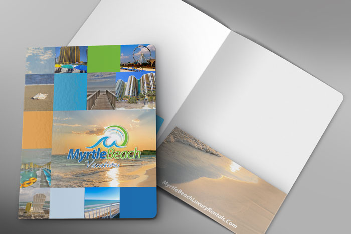 Creative Roots Marketing & Design - Myrtle Beach Vacations Folder Design