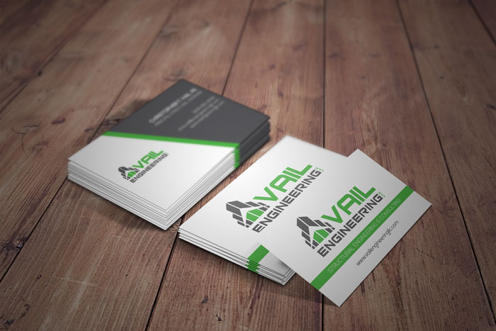 Creative Roots Marketing & Design - Business Card Design for Vail Engineering, LLC
